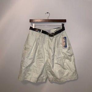 BRAND NWT Marsh Landing Yellow Shorts w Belt sz 12